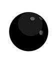 Black bowling ball vector image