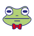 cute frog head wild animal vector image