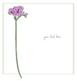 freesia minimal card vector image