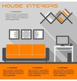 House interior infographic template vector image