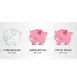 icon of a piggybank vector image