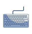 shadow keyboard cartoon vector image