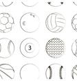 Sport Balls Set pattern vector image