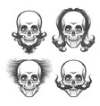 the human skulls set vector image