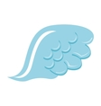wing angel blue icon vector image