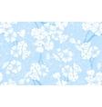 Blue Blossom Seamless vector image