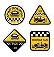 Taxi - set four stickers vector image vector image