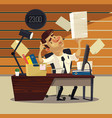 unhappy tired office worker businessman vector image