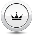 Button with crown vector image vector image