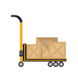 delivery boxes on truck in flat design vector image