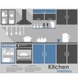 Kitchen Interior infographic design vector image