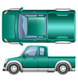 A pick up car vector image