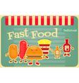 fast food cartoon vector image
