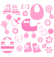 girl newborn collection vector image