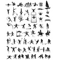 Icon design for many type of sports vector image