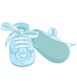 Blue baby shoes vector image