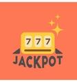 flat icon on stylish background jackpot Lucky vector image