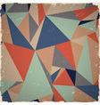 Geometric grunge background vector image