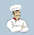 Italian chef Cook with mustache Professional vector image