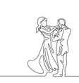 loving couple on white background vector image