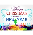 Merry Christmas holidays wish colorful card design vector image