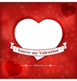 Valentines Day card poster vector image