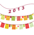 Calendar for 2013 like flags vector image vector image