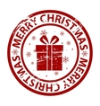 Christmas rubber stamp vector image vector image