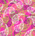 Pink paisley background vector image
