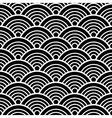 White Black Traditional Wave Japanese Chinese vector image