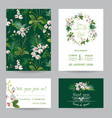tropical orchid flowers and leaves wedding vector image vector image