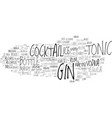 gin word cloud concept vector image