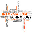 word cloud information technology vector image
