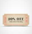 vintage sale coupon vector image vector image