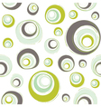 seamless retro pattern with circles vector image