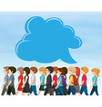 People walking and bubble speech vector image