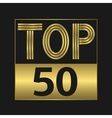 Top fifty sign vector image