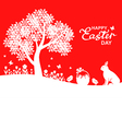 easter land red vector image vector image