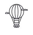 air balloonaerostat line icon sign vector image