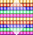 Colorful gem stone square cut pattern background vector image