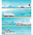 infographic of industrial transport vector image
