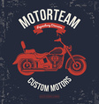 Motorcycle vintage graphics Road Trip t-shirt vector image