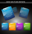 Web elements for web projects vector image