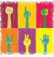 grunge pop art hands vector image vector image