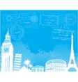 Travel europe background vector image vector image