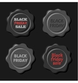 Black friday set of black wax stamps vector image