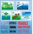 various post stamps vector image