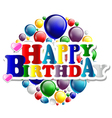 birthday with balloon background vector image vector image