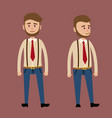 bearded male character in red tie vector image