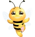 bee on a white background vector image